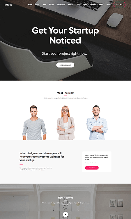 Intact-WordPress-theme-app-website