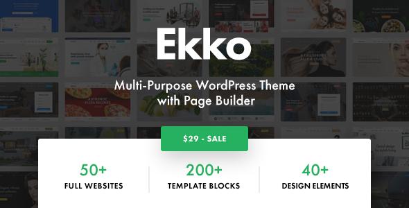 Ekko wordpress theme documentation