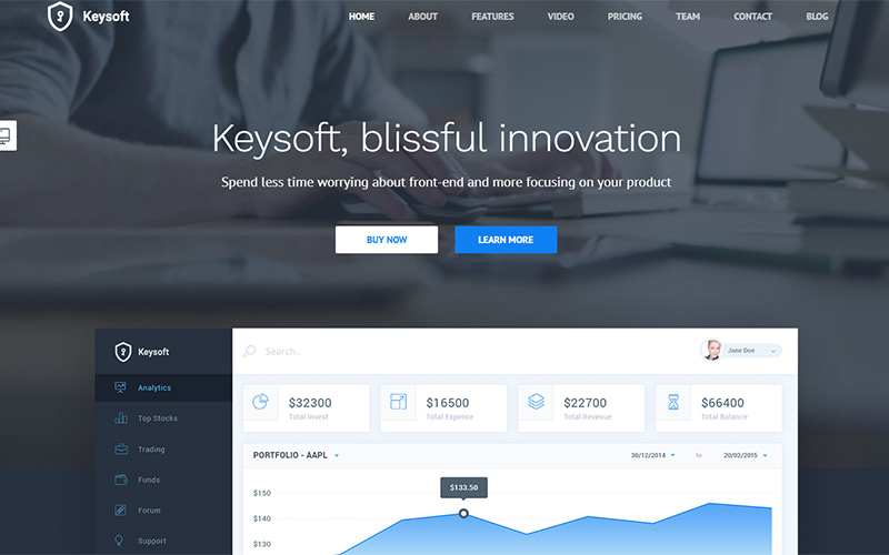 KeySoft Landing Page WordPress Theme